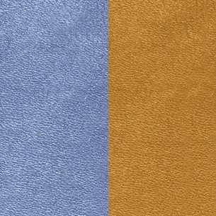 LEDM5-40, Lederband Zubehör - blau-mokka