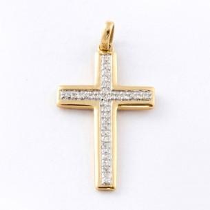 L281071, Kreuz Diamant 14 Kt