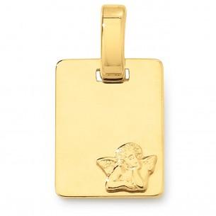 TA143, 14kt Gold 585 Taufanhänger / Schutzengel personalisierbar mit Gravur von Diadoro Gold Basics.