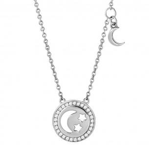 Collier Silber 925, Zirkonia, XS1653
