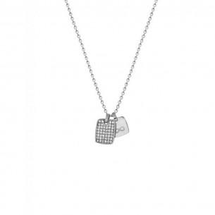 Collier mit Gravurplatte und Unendlichsymbol, X2575
