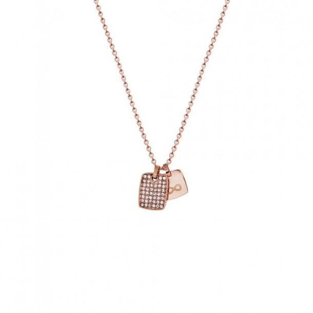 X2575R, Xenox Collier mit Gravurplatte und Unendlichsymbol rosévergoldet