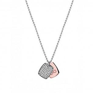 Collier mit Gravurplatte und Unendlichsymbol in rosé, X2574R