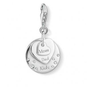 1453-051-21, Charm Anhänger - Herzen Mom, Dad, Kids