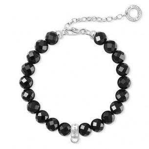 Armband -Charm schwarz, X0226-840-11-L18,5V