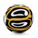 K0254-017-4, Karma Beads - Glas - schwarz, gelb, weiß
