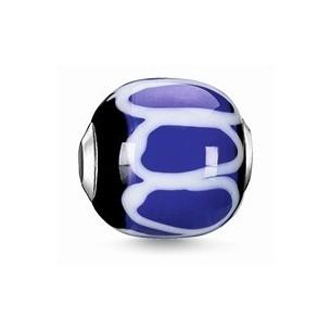 Karma Beads - Glas - schwarz, blau, weiß, K0251-017-1