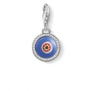 1440-052-1, Charm Anhänger - blaues Glasauge