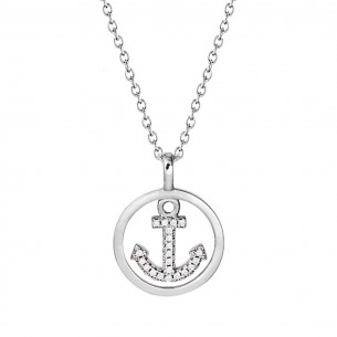 XS4176, Collier - Anker Silber