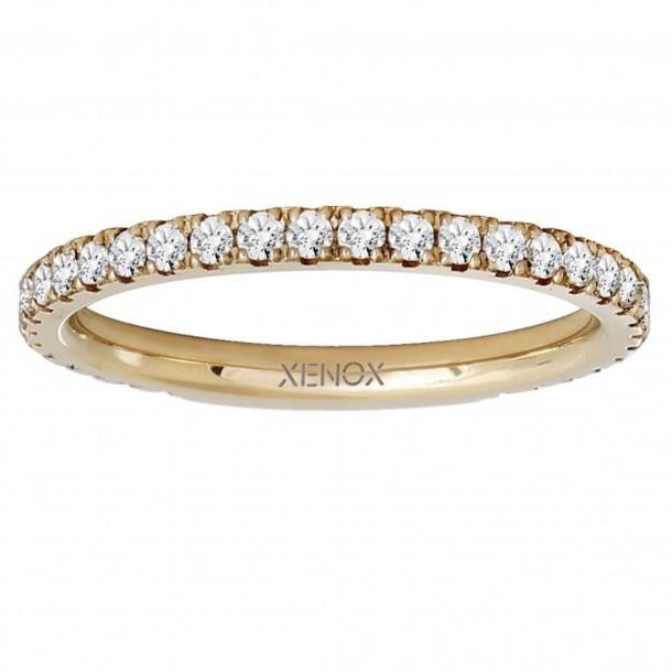 Xenox Ring Silber Zirkonia IP gelb - X2300G/56