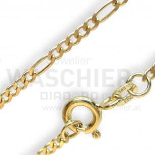 Goldkette Figaro 40/42cm, G15342/4042