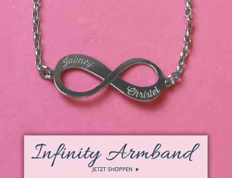 Infinity Armbänder mit Gravur