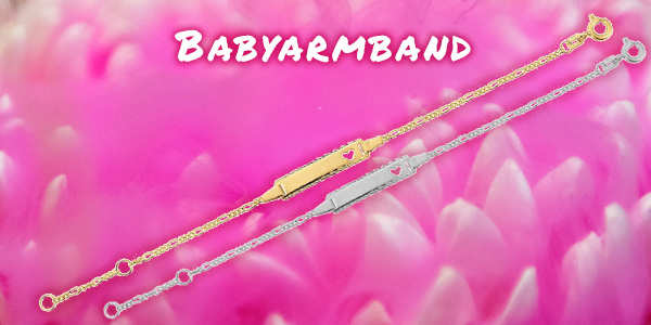 Babyarmband gravieren und personalisieren
