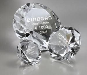 Diadoro Wert Stein - ein Gutschein wie ein echter Diamant!